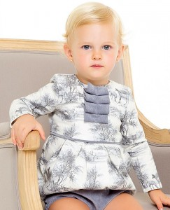 Vestido bebé toile gris de Kid´s chocolate