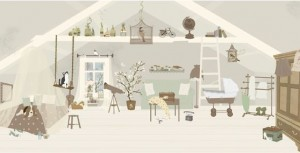 Papel casa gris de Little Hands