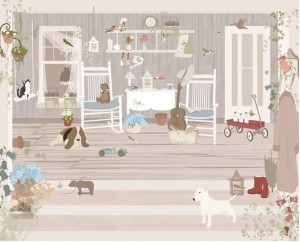 Papel front porch de Little Hands