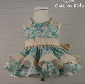 Vestido Monet azul de Chic to Kids