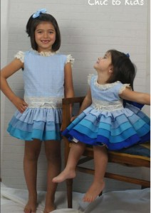 Vestidos Degas azul de Chic to Kids