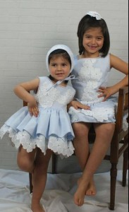 Vestidos celeste de Chic to Kids