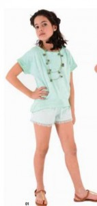 Conjunto short mint de Vitivic