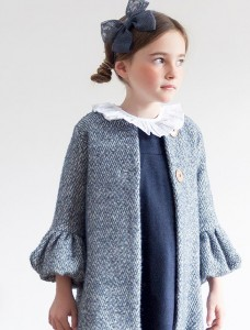 Abrigo tweed azul de Kids Chocolate