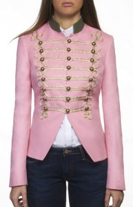 Chaqueta rosa cuello verde de The Extreme Collection
