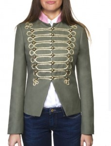 Chaqueta verde cuello rosa de The Extreme Collection