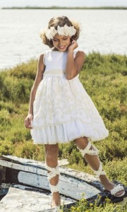 Vestido blanco ceremonia de Rubio Kids