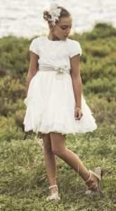 Vestido crudo Ceremonia de Rubio Kids
