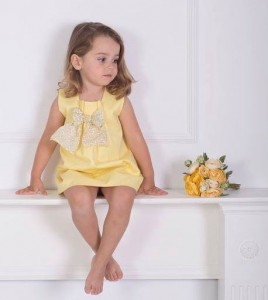 Vestido amarillo lazo de Eve Children
