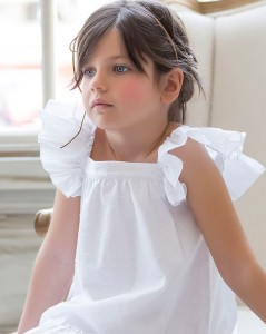 Vestido plumetti blanco de Kids Chocolate