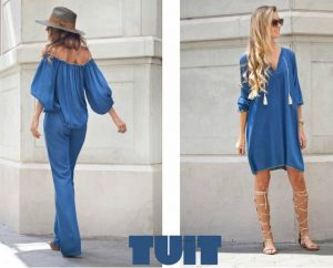 Jumpsuit y túnica blue de Tuit Fashion Home