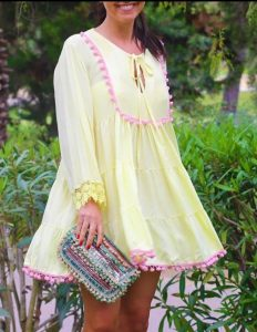 Vestido amarillo de Phi Cloting