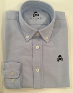 Camisa Oxford azul de Scalpers