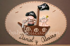 Placa piratas de Babydelicatessen