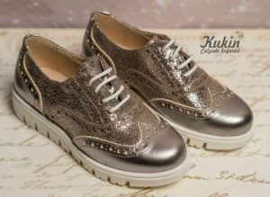 Zapatos Oxford metalizados de Kukin
