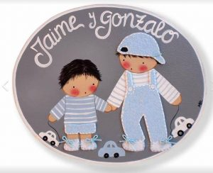 Placa hermanos de K de Kids