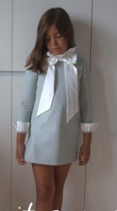Vestido tweed lazo blanco de Eve Children
