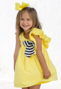 Vestido plumetti amarillo de Kids Chocolate