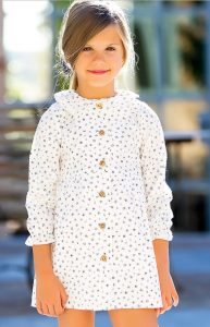 Vestido blanco estampado negro de Kids Chocolate