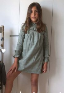 Vestido verde cuadros Forest de Eve Children