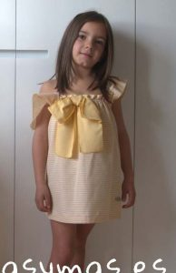 Vestido rayas amarillas Bird de Eve Children