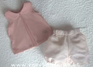Conjunto bebé rosa Shell de Eve Children