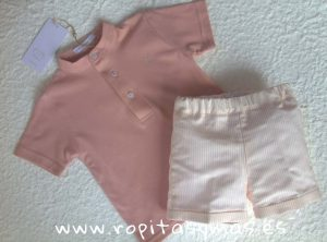 Conjunto niño polo rosa Shell de Eve Children