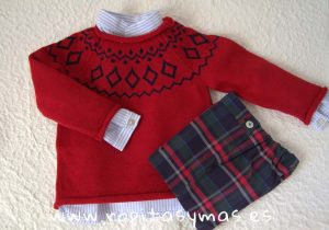 Conjunto short niño tartán de Kids Chocolate